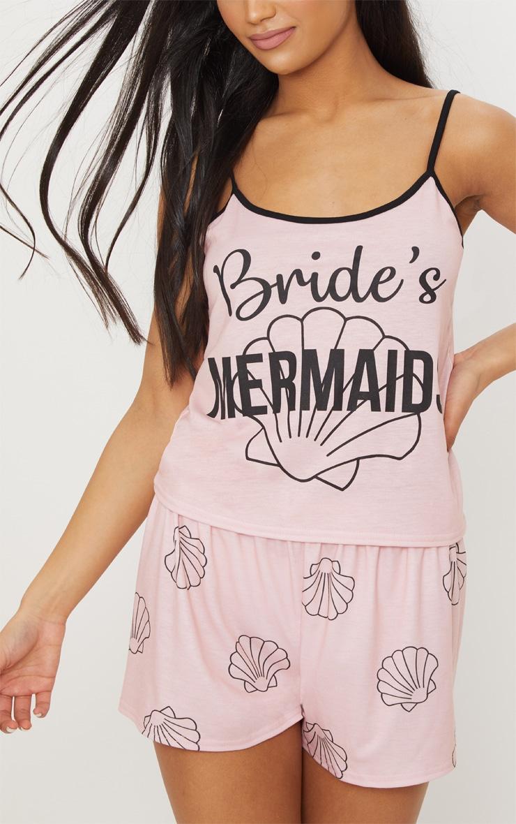 Pink Bride Mermaids Strappy PJ Set 5