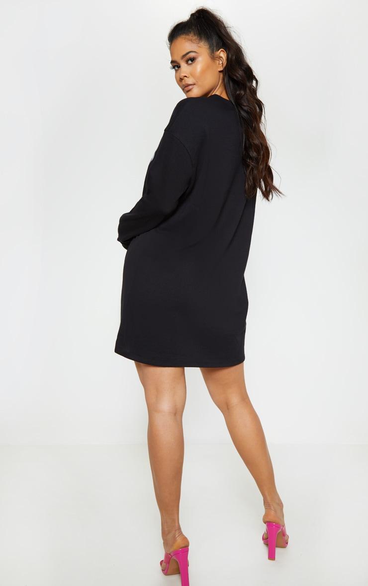 Tupac Black Glasses Oversized Jumper Dress 2