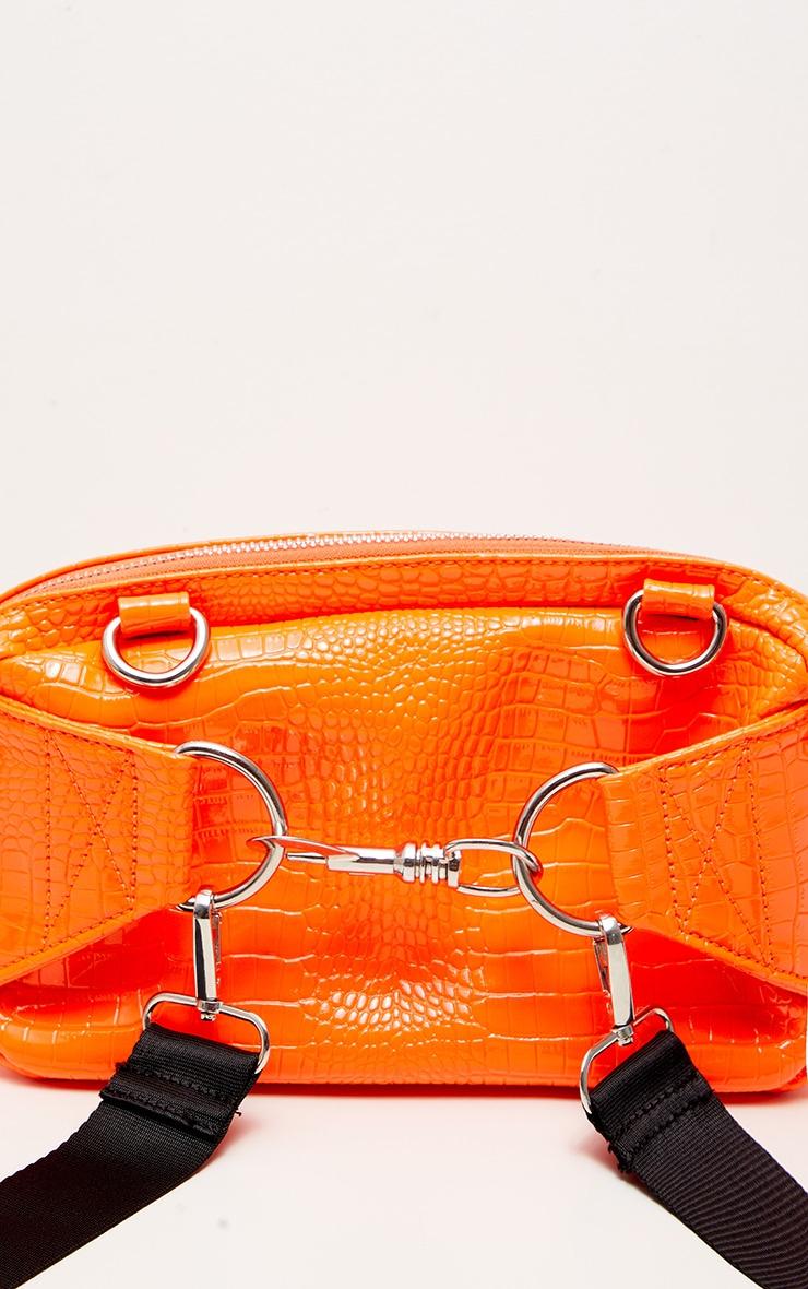 Orange Croc Patent Long Bum Bag 4