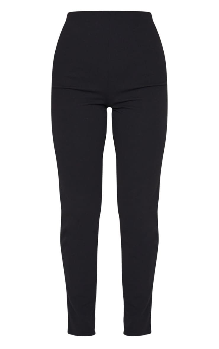 Black Slim Leg Crepe Pants 5