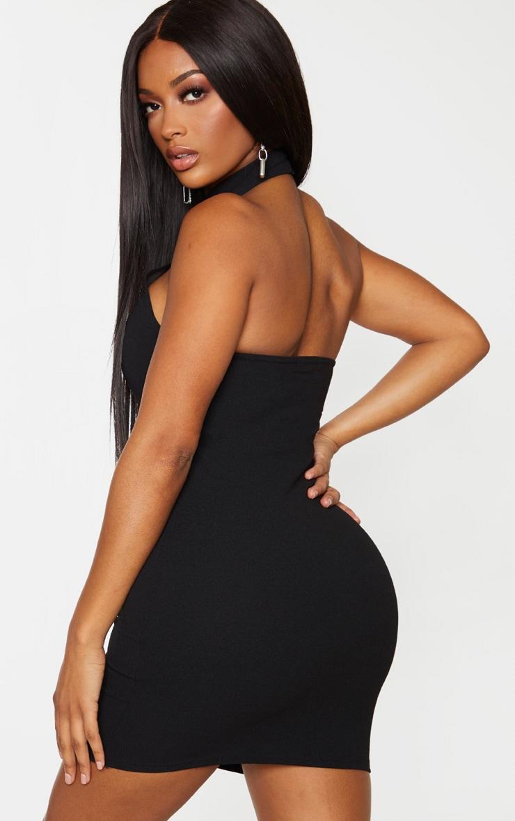 Shape Black Crepe Halterneck Bodycon Dress 2