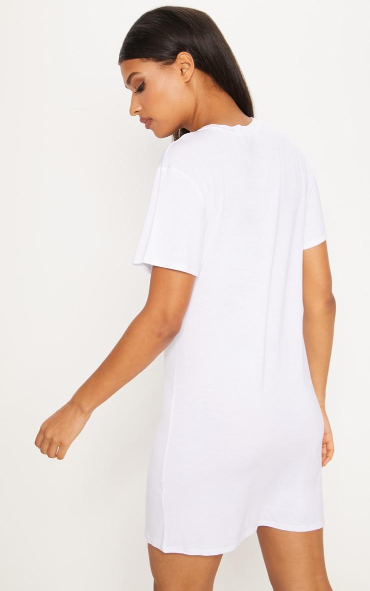 White Honey Printed T Shirt Dress 2