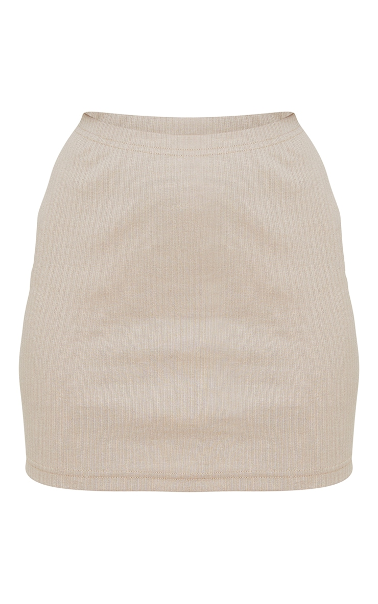 Petite Stone Ribbed Bodycon Skirt 5
