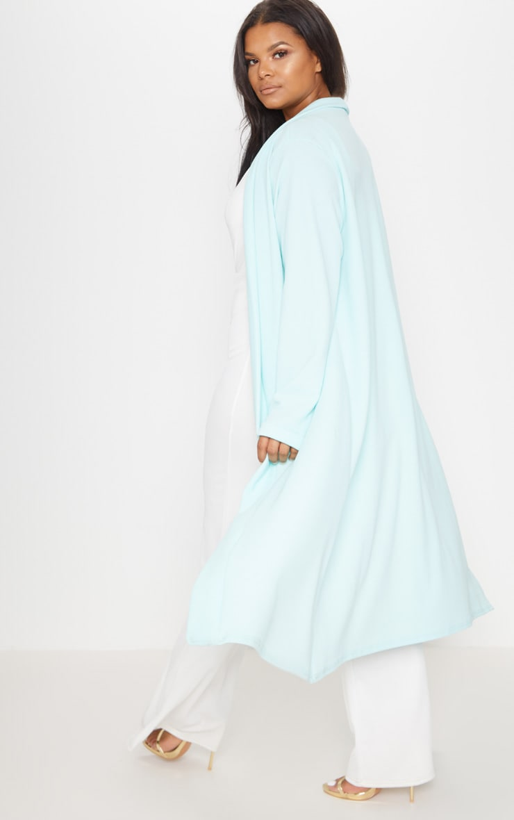 Plus Mint Crepe Maxi Duster Jacket 2