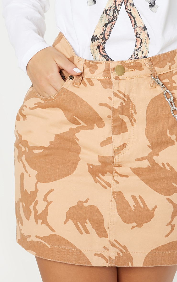 Stone Camo Denim Skirt  6