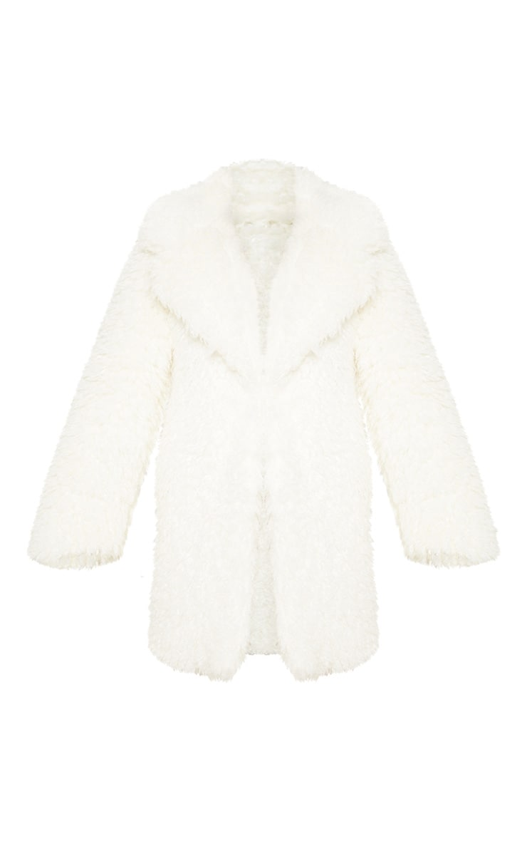 White Teddy Faux Fur Coat 3