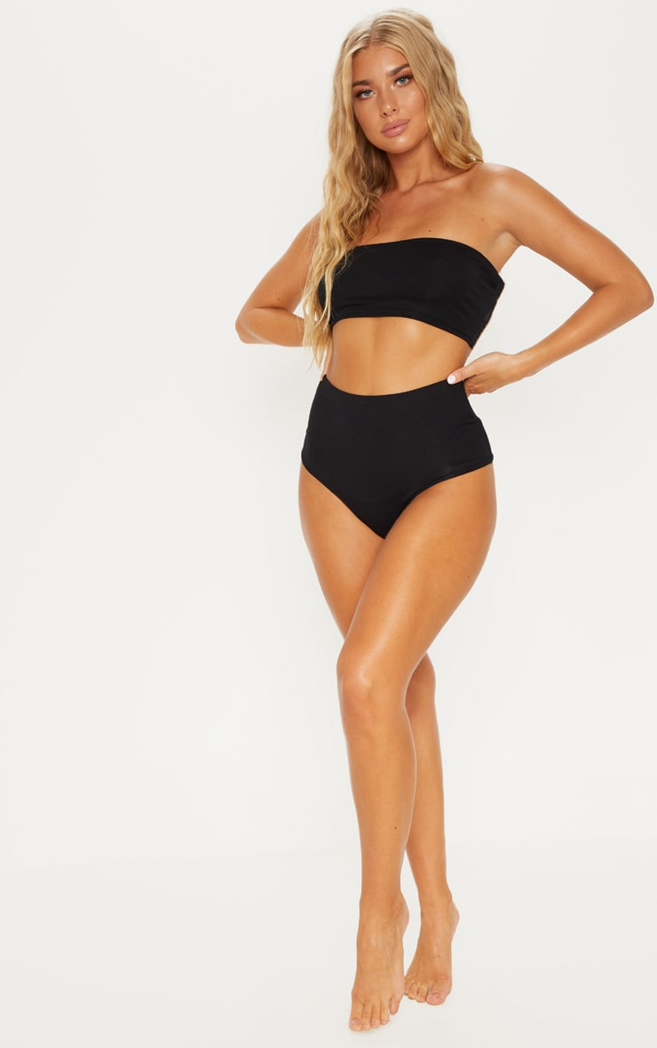 Black Basic Bandeau Co-Ord 4