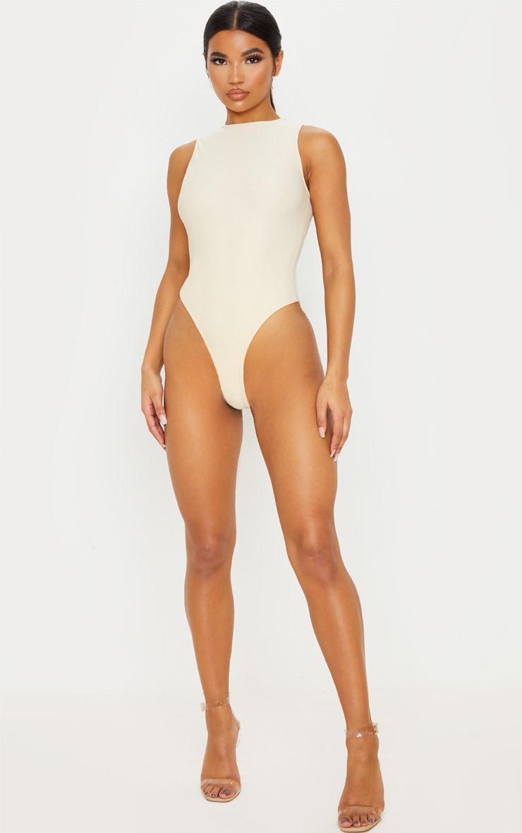 Body sans manches slinky stretch sable à col montant 2