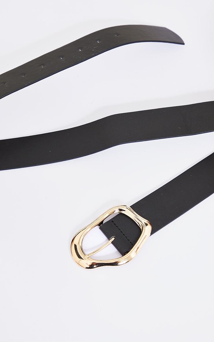 Gold Abstract Buckle Waist Belt 3