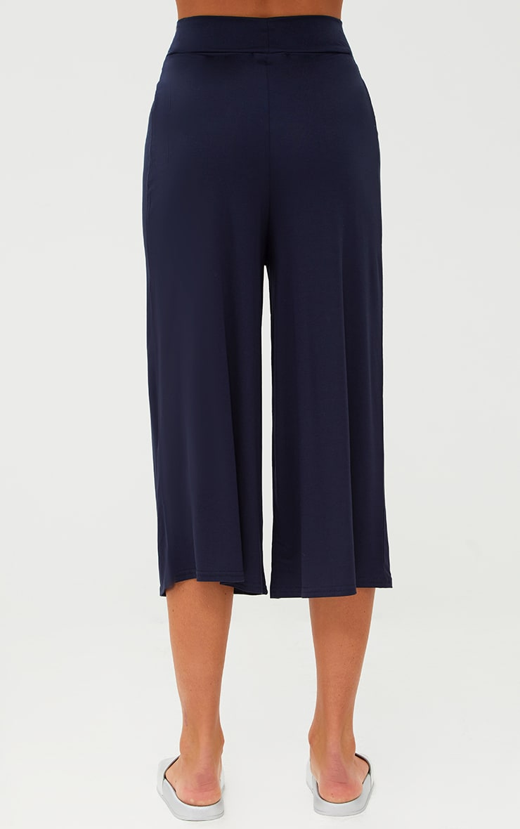 Navy Basic Culottes 4