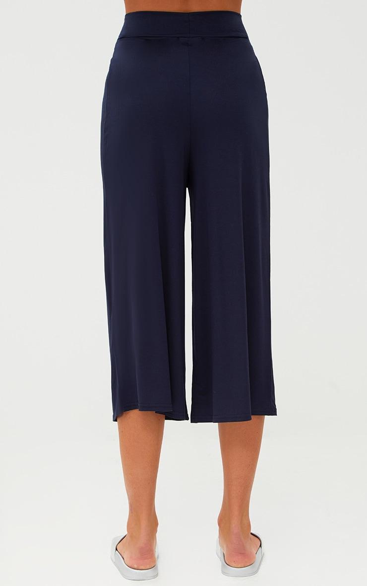 Jupe-culotte basique bleu marine 4
