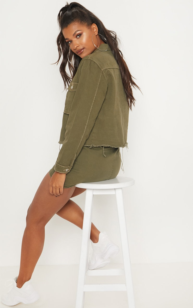 Khaki Trucker Jacket  2