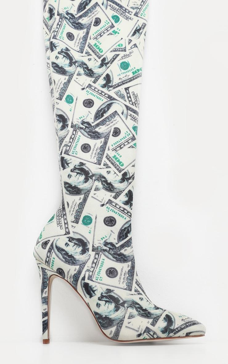 Thigh High Dollar Print Boot 3