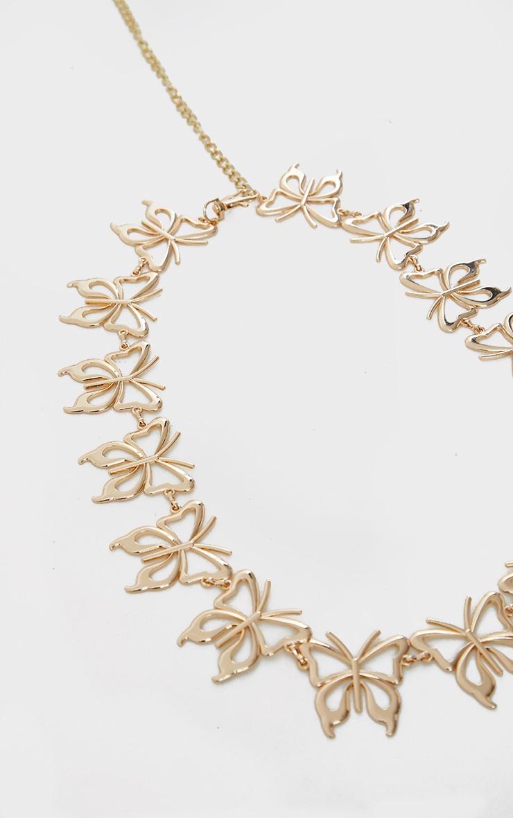 Gold Oversized Butterfly Chain Belt 3