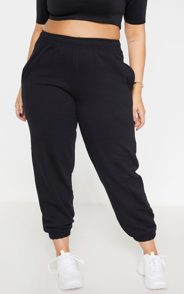 Plus Black Casual Sweat Jogger 2