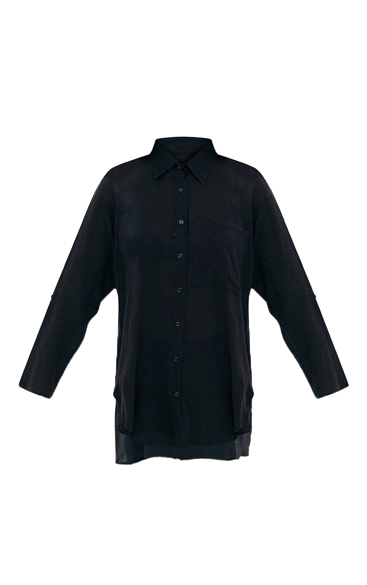 Black Cheesecloth Shirt 3