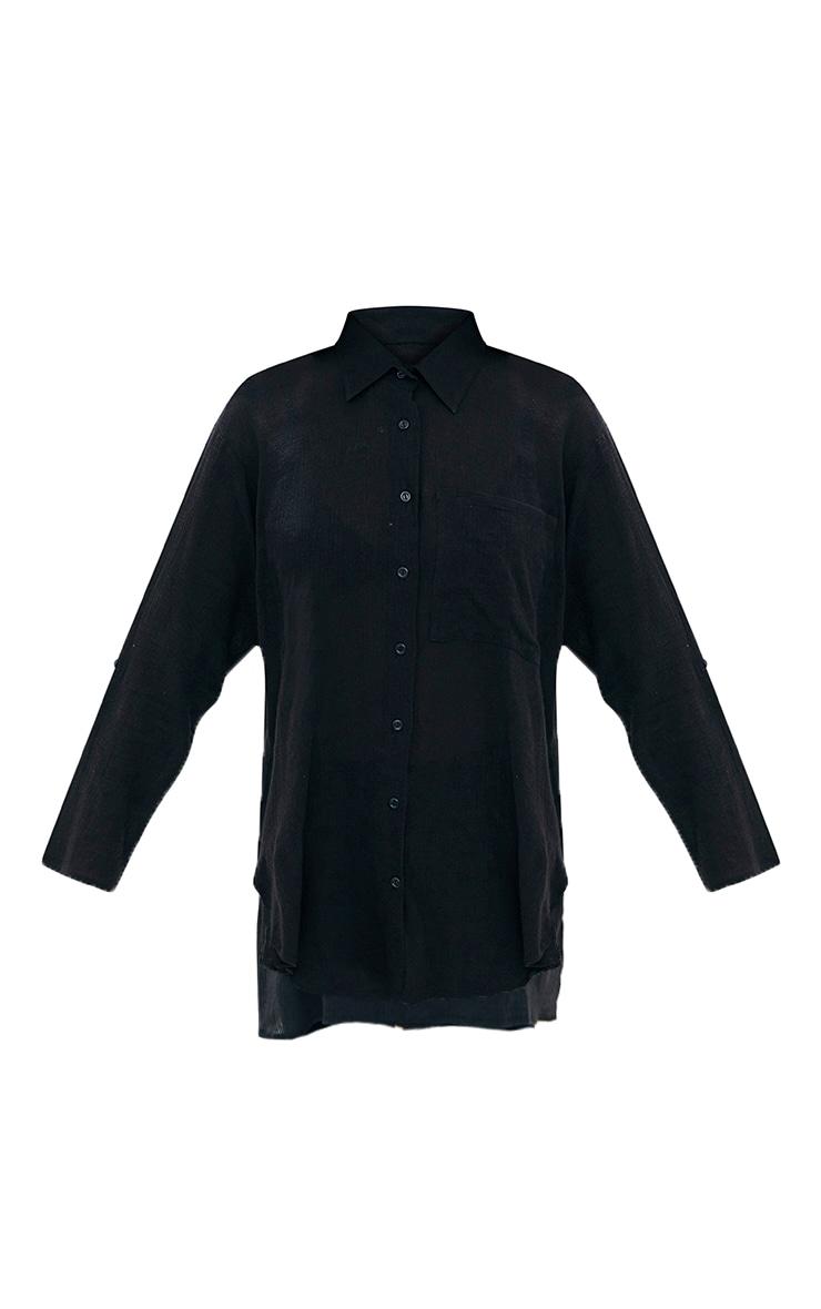 Chemise en étamine noire 3