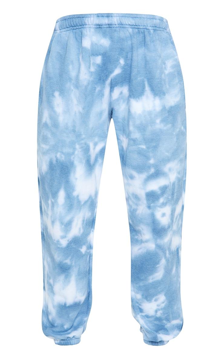 Blue Tie Dye High Waist Joggers 5