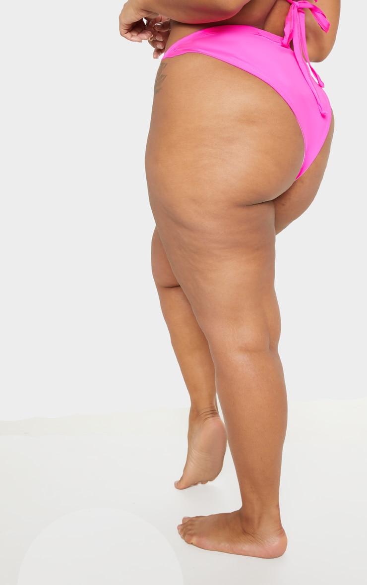 Plus Neon Pink Bikini Bottom 4