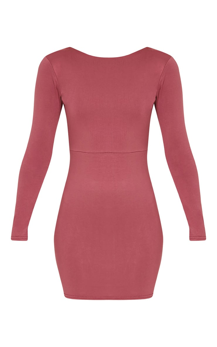 Marcy Rose Strappy Back Long Sleeve Bodycon Dress 3