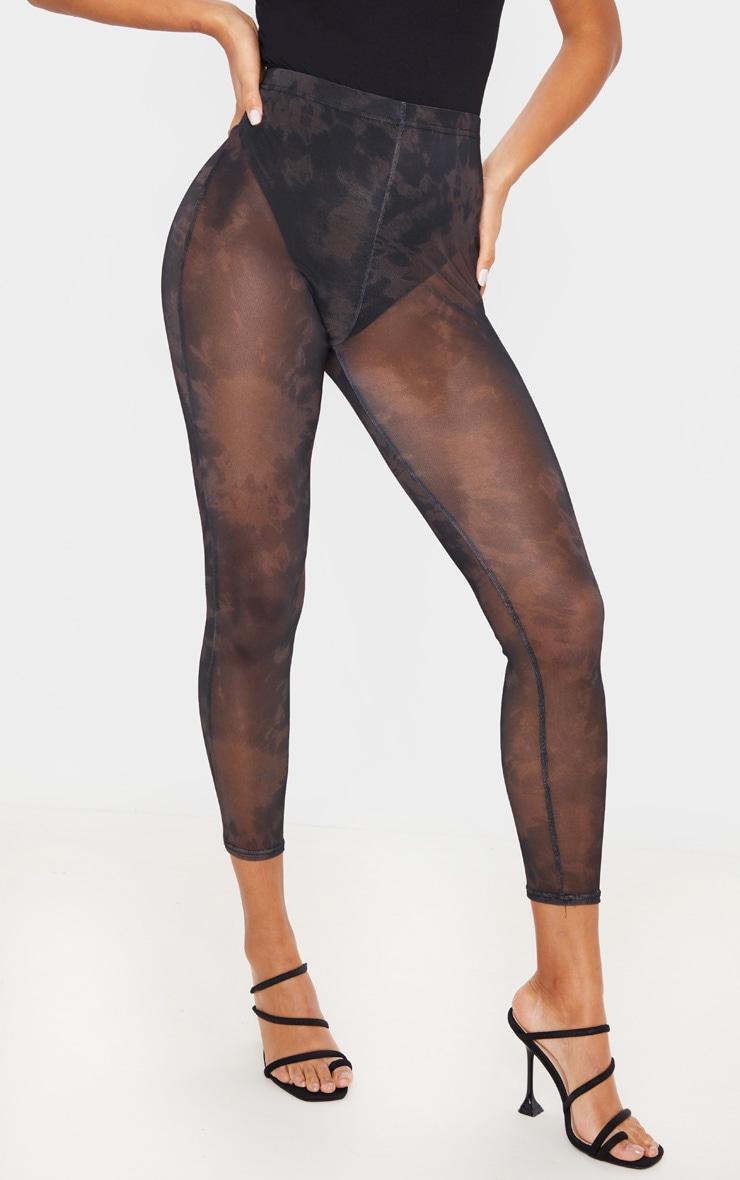 Black Tie Dye Mesh Legging 2