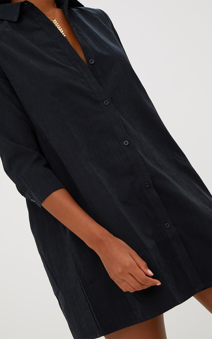 Leni Black Shirt Dress 5