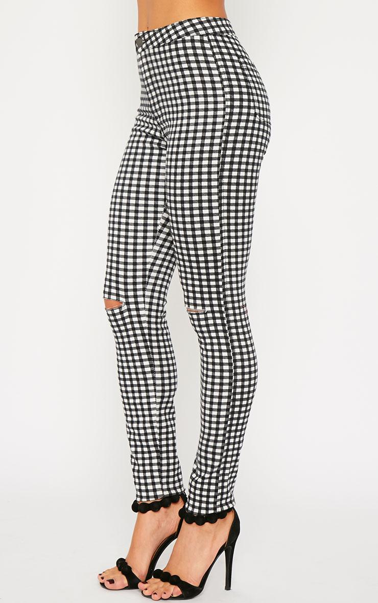 Jordan Monochrome Gingham Ripped Jeans 3