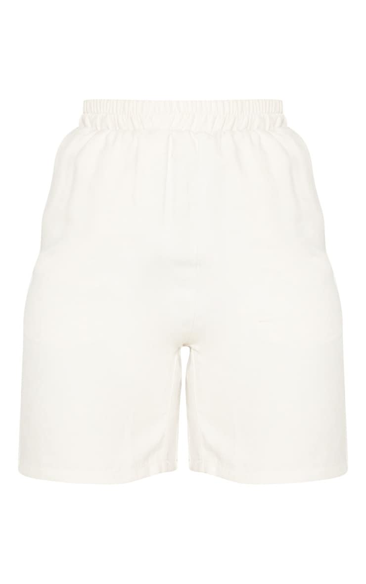Cream Faux Suede Shorts 3