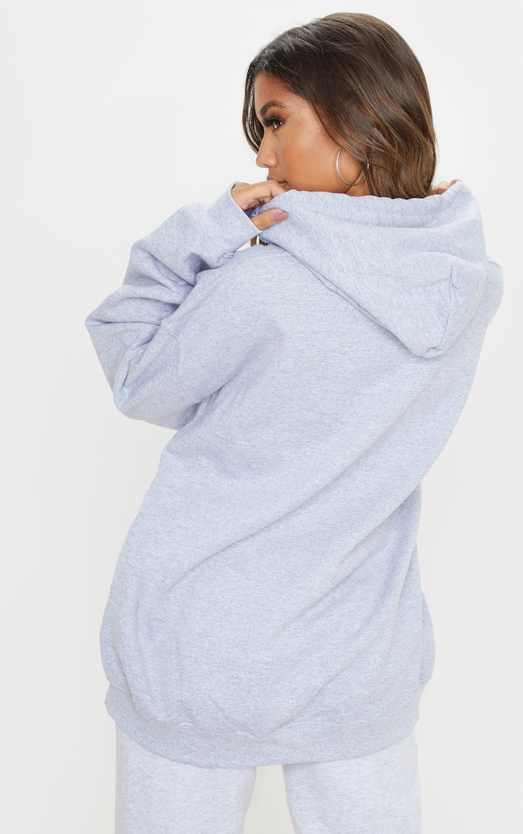Grey Marl Ultimate Oversized Hoodie 2