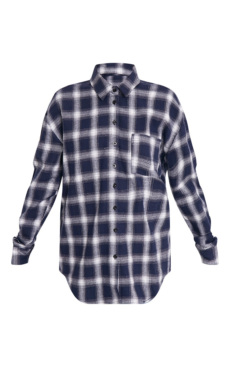 Maeve Navy Checked Applique Shirt 3