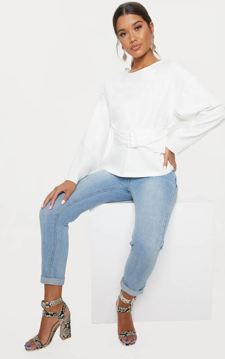 White Belt Detail Oversized Top 4