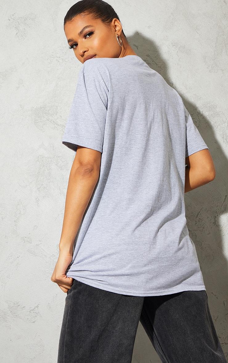 Grey Marl Future Is Bright Small Print Text Short Sleeve T Shirt 2
