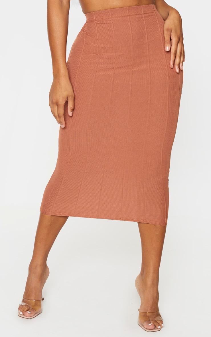 Shape Mocha Bandage High Waist Midi Skirt 2