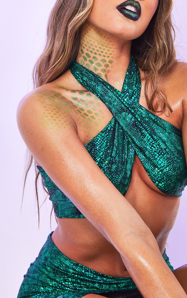 Green Medusa Fancy Dress Costume 4