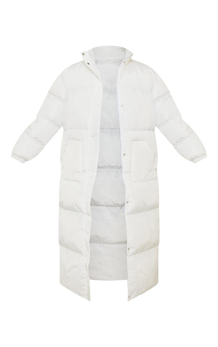 Tall White Maxi Puffer Coat 5