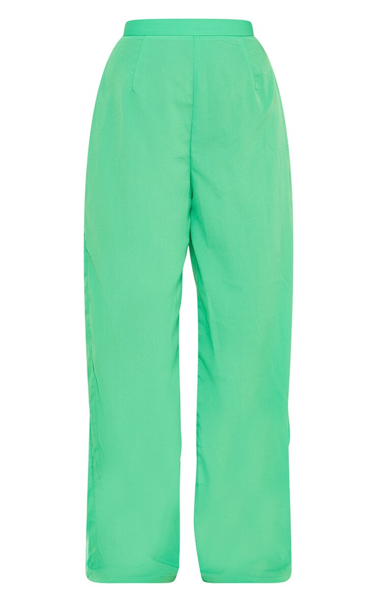 Bright Green Wide Leg Trousers 5