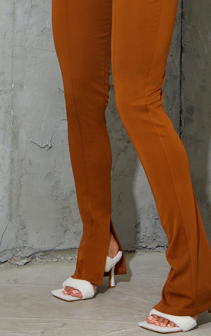 Camel Stretch Detail Skinny Trousers 4