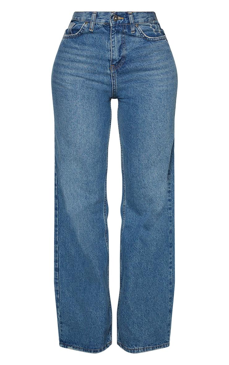 Shape - Jean à jambes évasées et délavage vintage 5