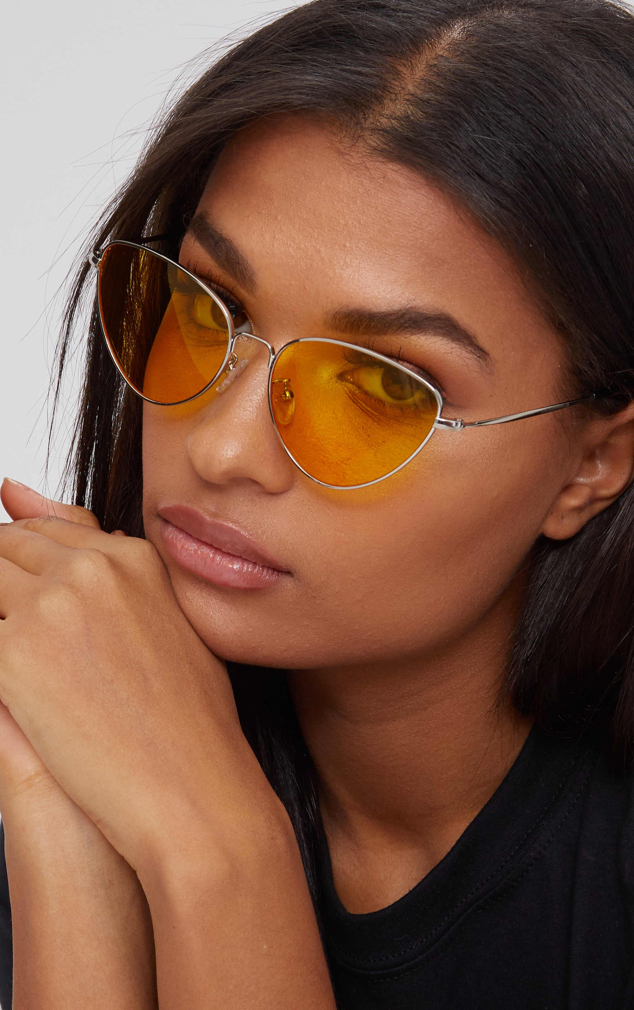 Yellow Cat Eye Lens Retro Sunglasses 3