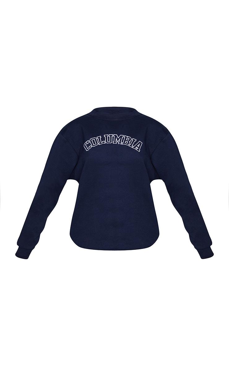 Sweat oversize bleu marine à broderie Columbia 5