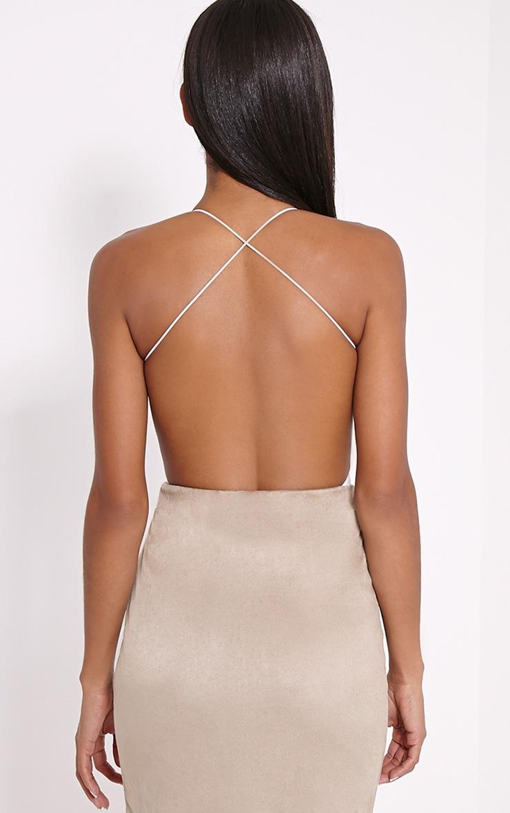 Raye Cream Cross Back Bodysuit 2