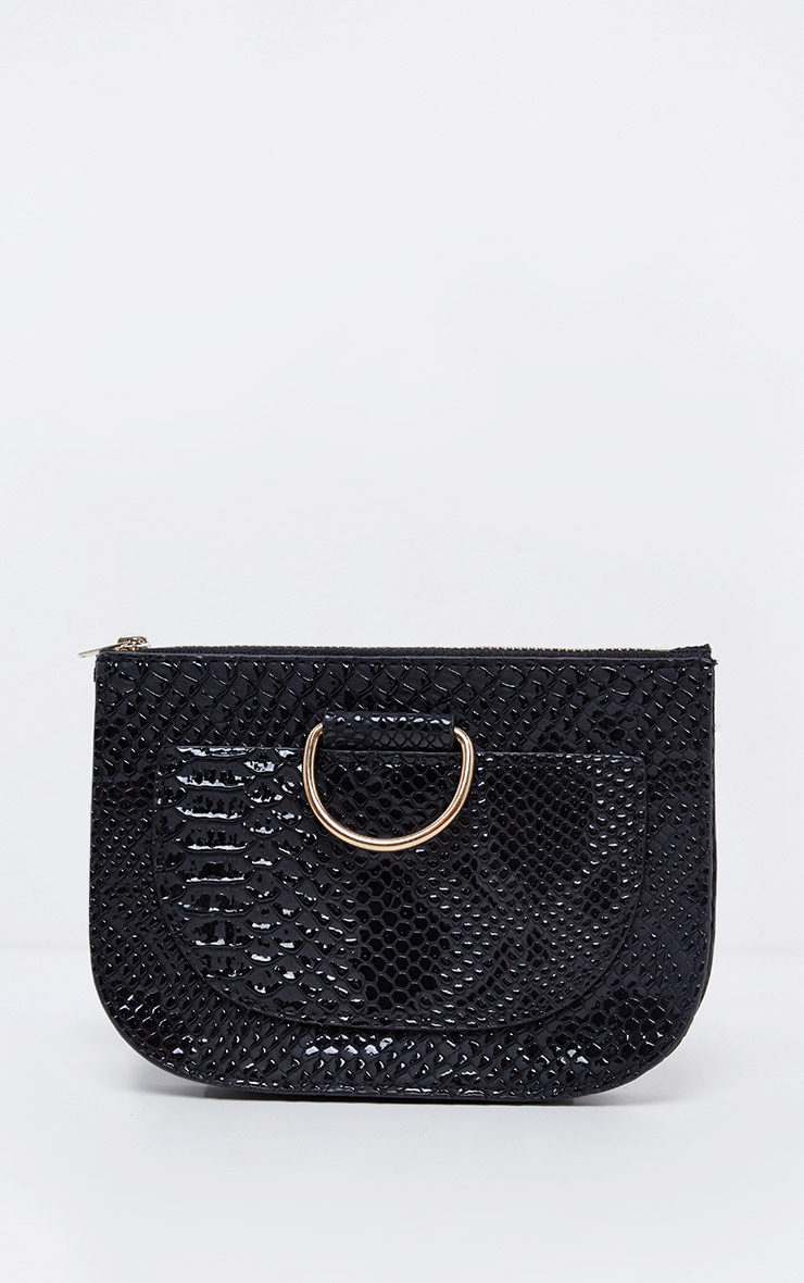 Black Croc Belt Bag 5