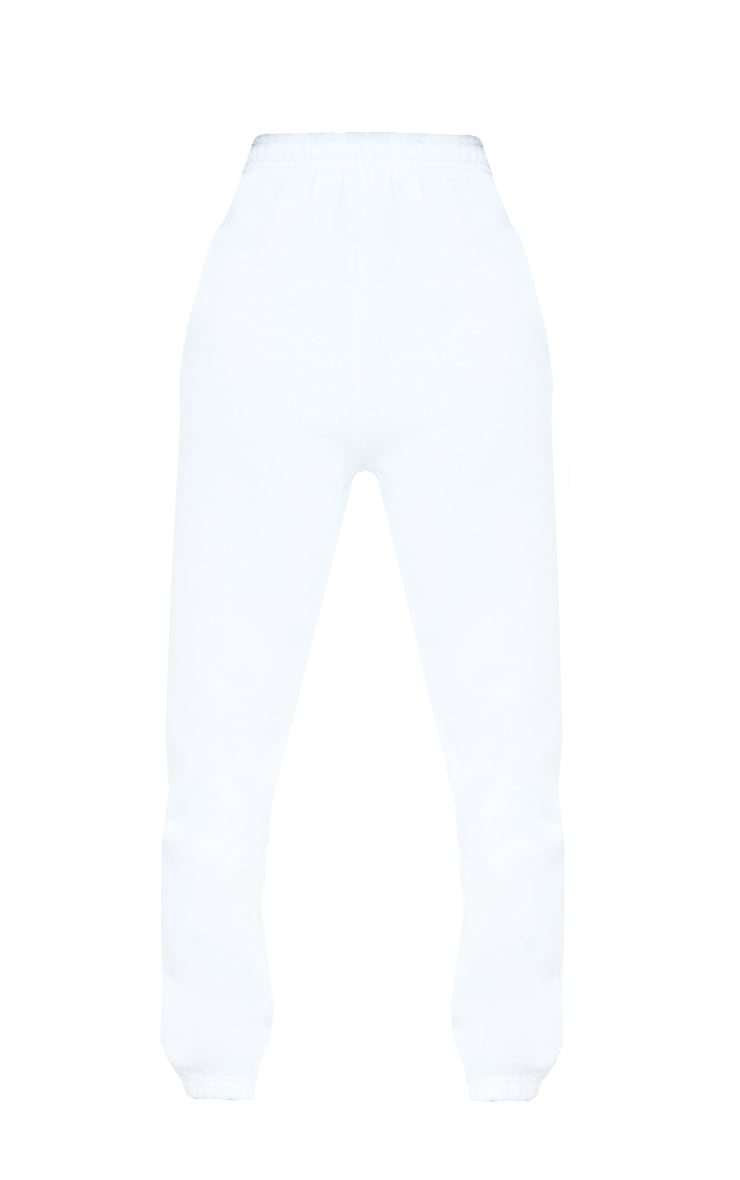 Tall White Casual Cuff Joggers 5