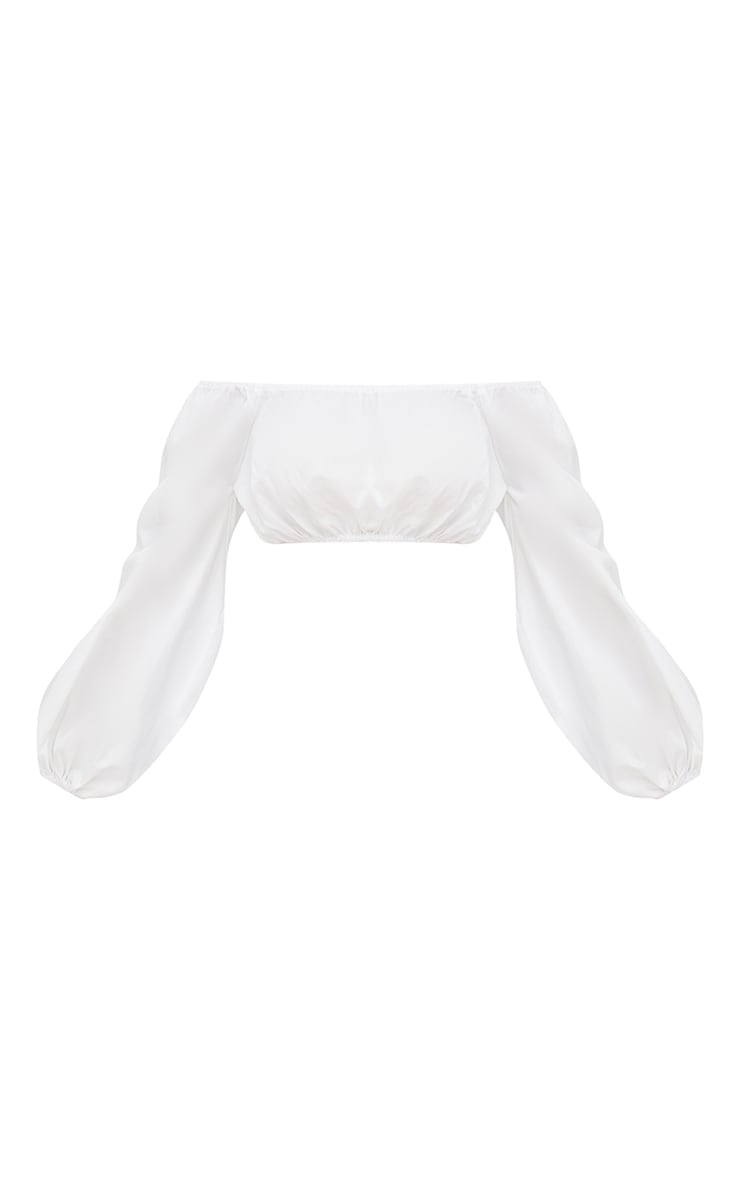 White Bardot Full Sleeve Shirt  3