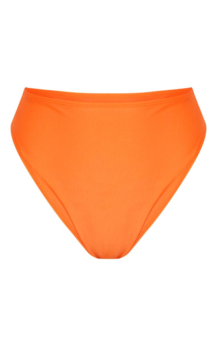 Orange Mix & Match High Waisted High Leg Bikini Bottom 7