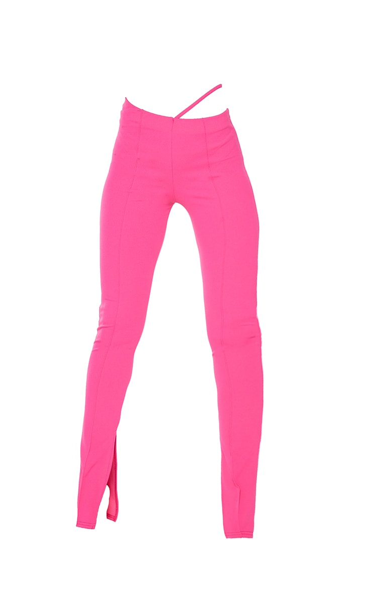Hot Pink Cut Out Skinny Pants 5