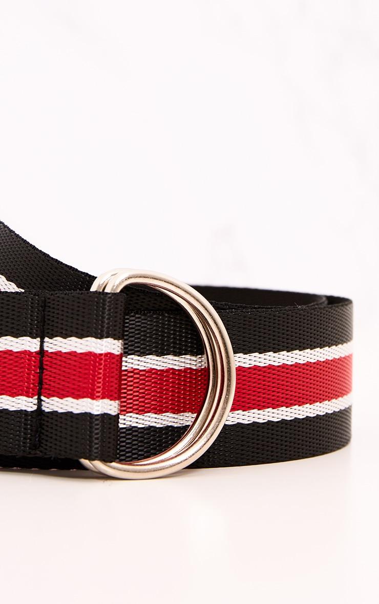 Blue & Red Striped Ribbon Belt 5