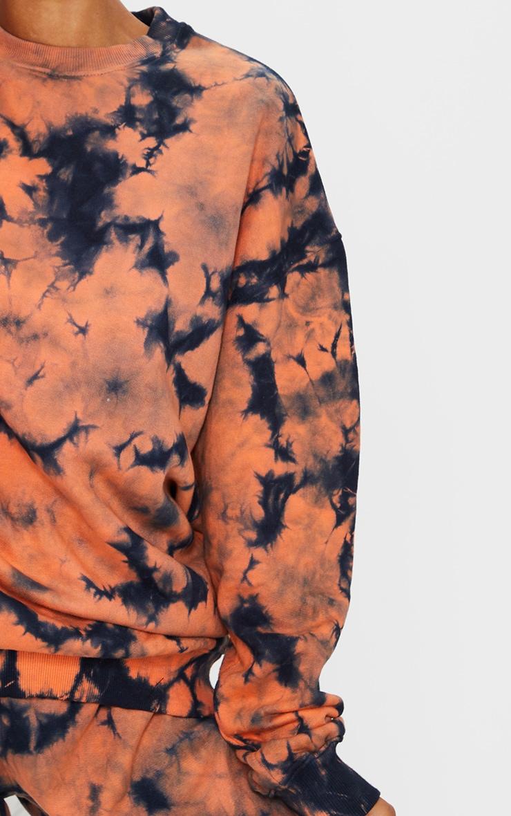 Rust Multi Tie Dye Oversized Sweater 4
