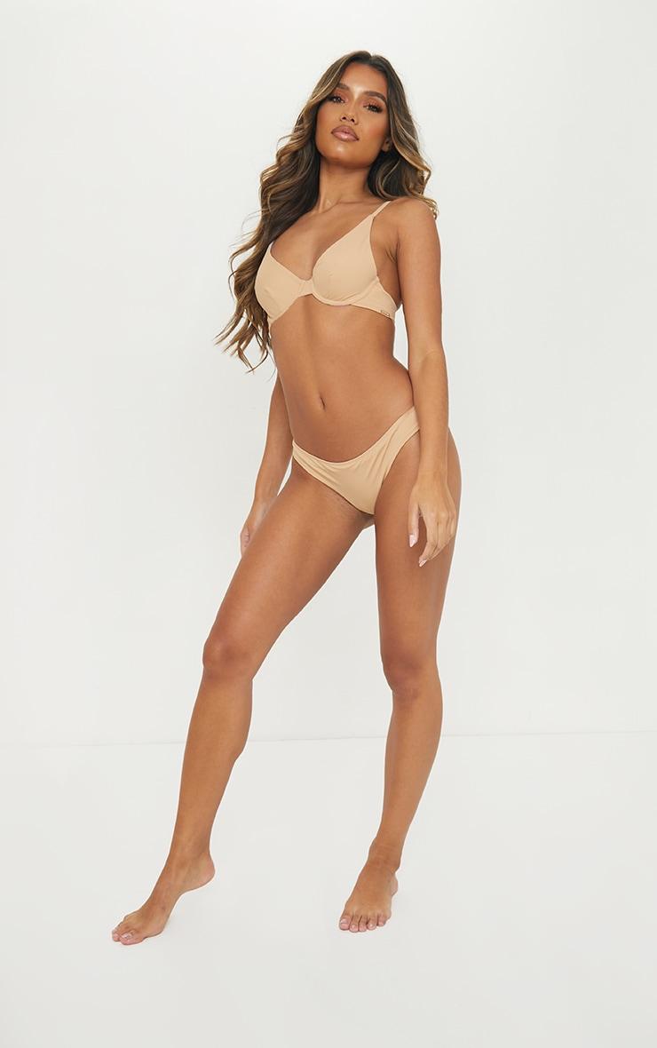 Nude Recycled Fabric Underwired Bikini Top 3
