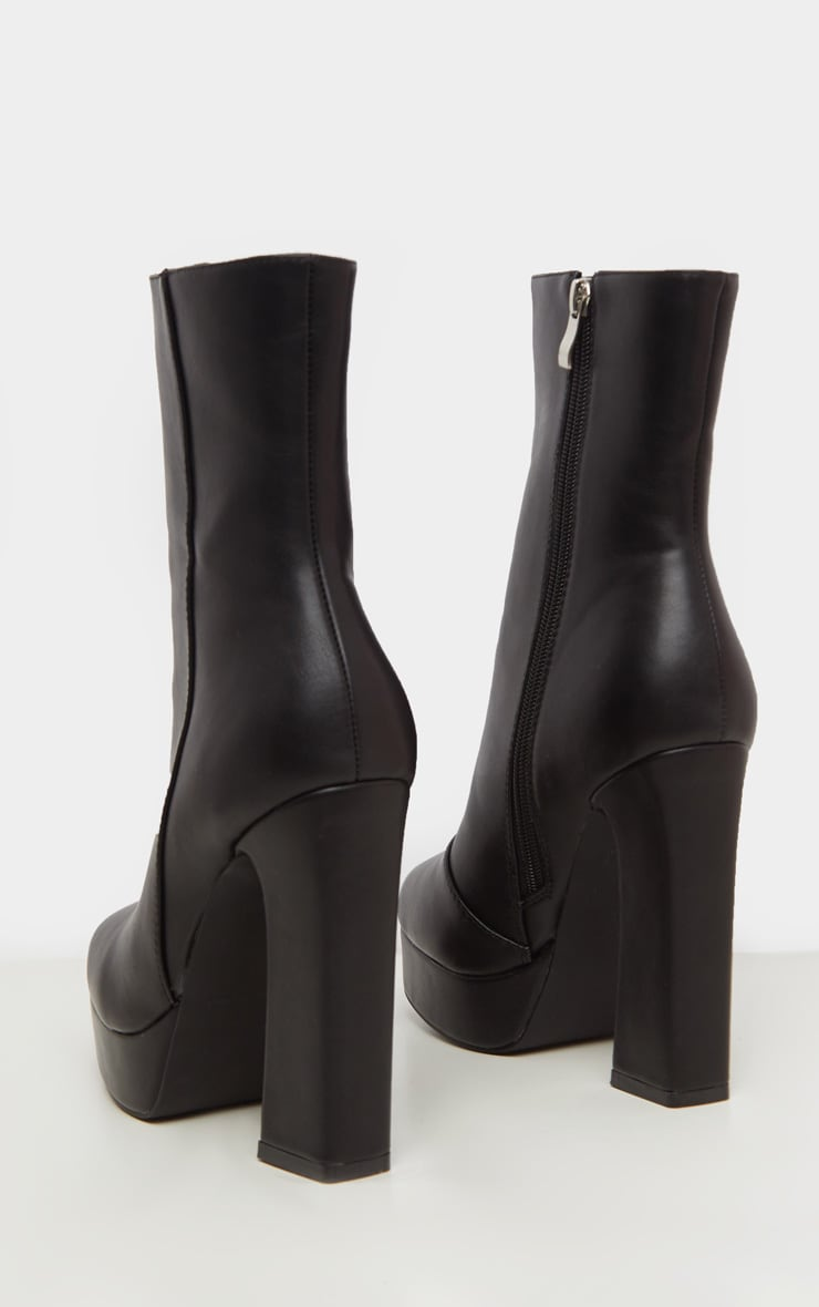 Black Platform Ankle Boot 4
